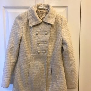 Tulle Cream Peacoat